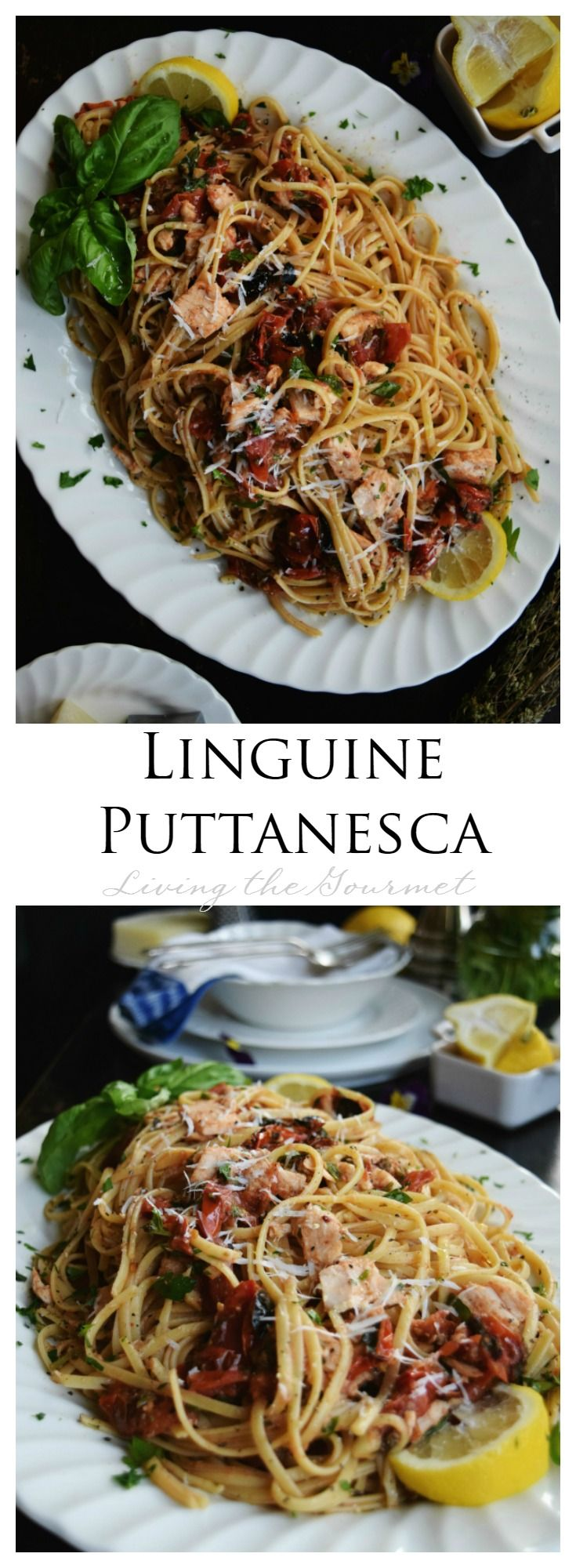 Living the Gourmet: Linguine Puttanesca is a simple and delicious twist with #WildSelections Tuna! #EarthDay #Ad @WildSelections