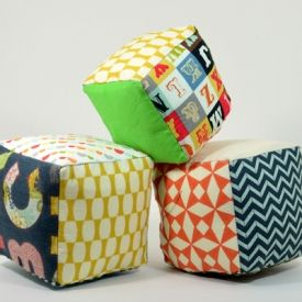 Make these whimsical soft play cubes for your little ones. Tutorial here.