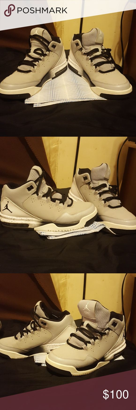 Jordan Flight Cookies N Cream Grey, white, and black cookies and cream Jordan Flights, 6Y Jordan Shoes Athletic Shoes