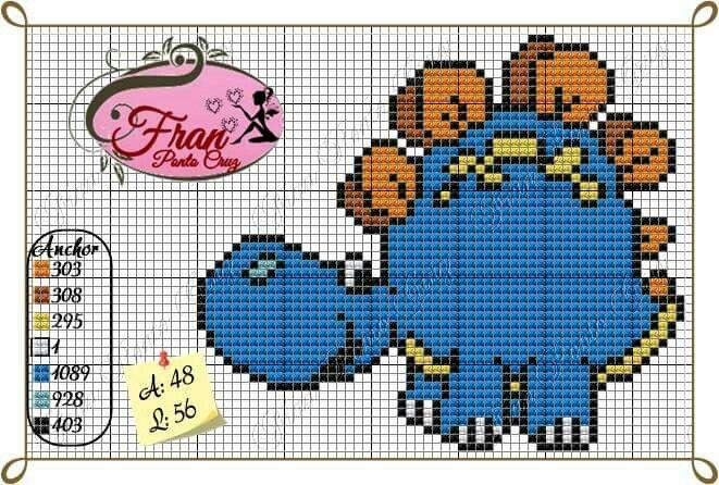 10 Images About Point De Croix Dino On Pinterest Charts