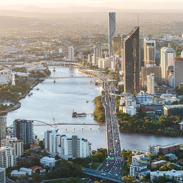 A classic shot of the brown snake. Share all things Queensland Via @Brisbane & #thisisbrisbane  @aerialadvantage