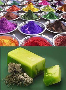 Természetes színezékek szappan készítés recept növényi szappan.