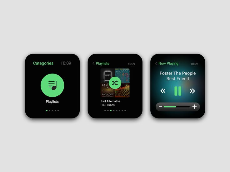 Music streaming apple watch app showcase full pixels