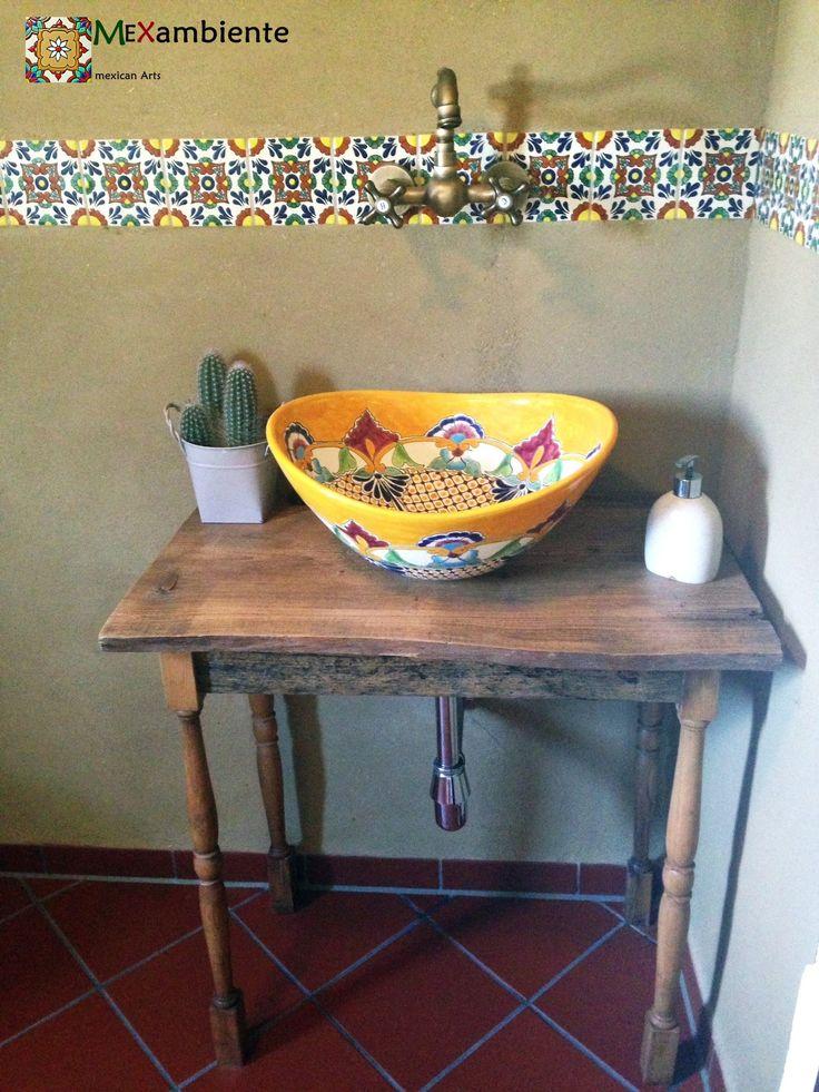 22 best Bunte mexikanische Aufsatzwaschbecken images on Pinterest - designer waschbecken badezimmer stil