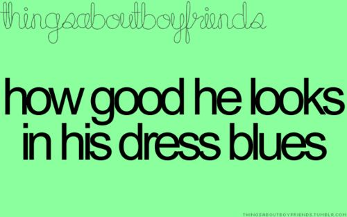 Oh Yes!! I love dress blues!!