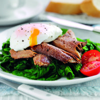 Princes recipe for Kipper ith Spinach and Poached Eggs