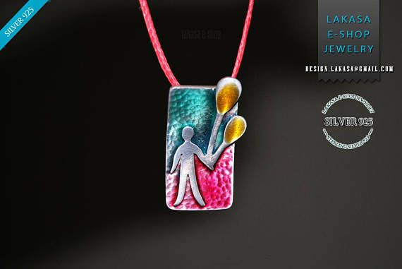 Enamel boy balloon Handmade Necklace Sterling Silver Jewelry #jewellery #necklace #enamel #man #people #happy #ballon #smalto #jewelry #joyas #mujer #woman #moda #gift #silver #silver925 #collection #fashion #κολιε #σμαλτο #ασημενια #ασημι925 #κρεμαστο #pendant #μπαλονια #ανθρωπος #snívanie #dream