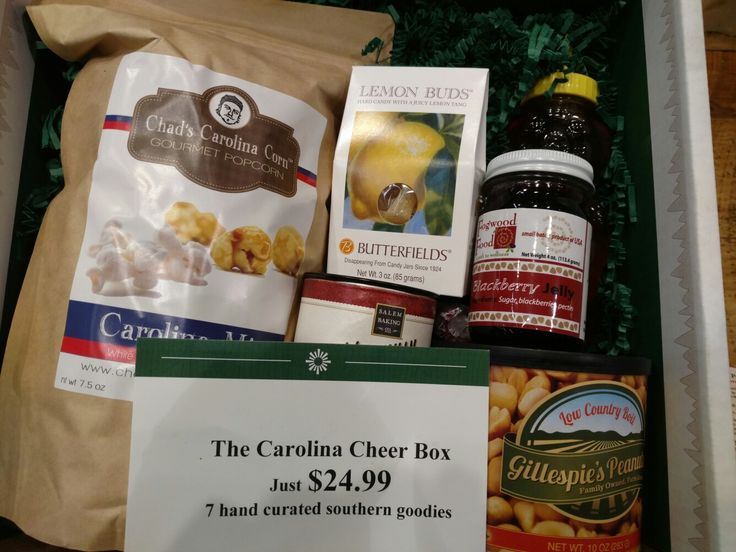 Stop by and pick up a box of nc products to send to family