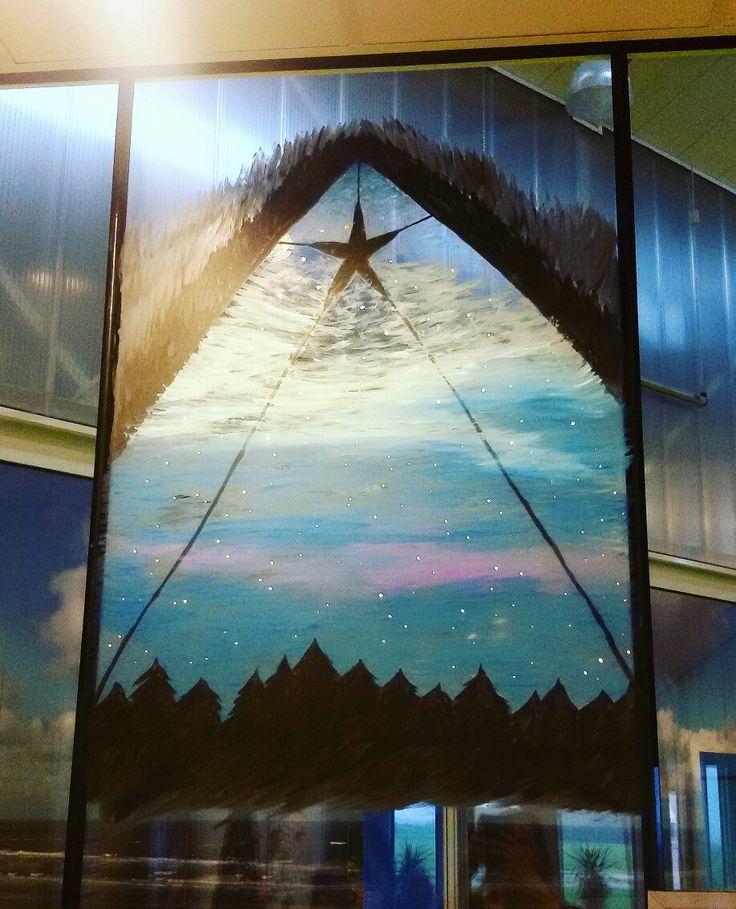 #mayoasha #raamschildering #windowart #windowpainting #ster #kerst #windowart #nacht #christmas #xmas
