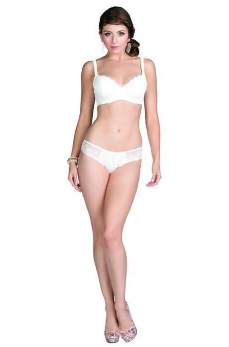 """""""Alexis"""" Molded Padded Bra & Bikini in Ivory For More Details: www.facebook.com/photo.php?fbid=483995071612600=a.477894232222684.118116.111339788878132=3"""