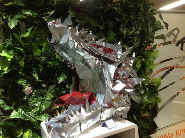 Meet Aganoth, Cerdon College's very own Smaug inspired dragon. Made from Coca-Cola tin cans & a hot glue gun.