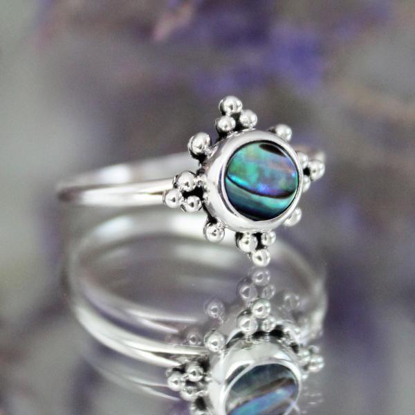 ❧ Midsummer Abalone Ring ❧ In store now ☞ shopdixi.com ❧ shop dixi // dixi // boho // bohemian // jewelry // jewellery // grunge // goth // hippie // hipster // gothic // badass // bandit // outlaw // abalone // sterling silver // midsummer // midi // thumb // ring // fierce