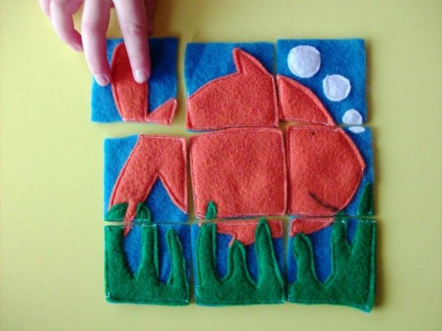 Homemade Gift Idea for Kids: Felt Puzzles - 28 DIY Kids Christmas Gifts