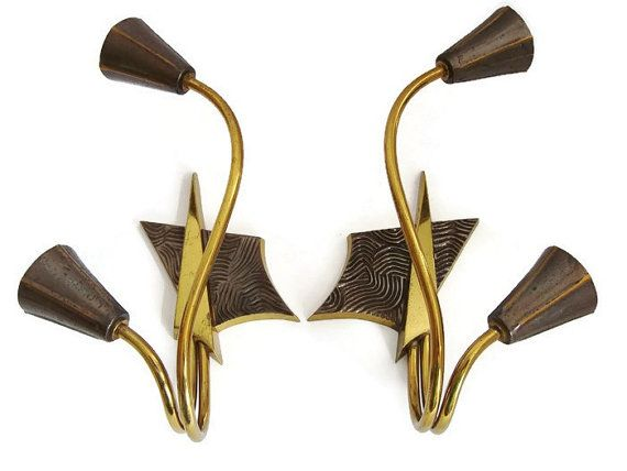 Mid Century Modern sconces wall lamps set of 2 by VintageBreda