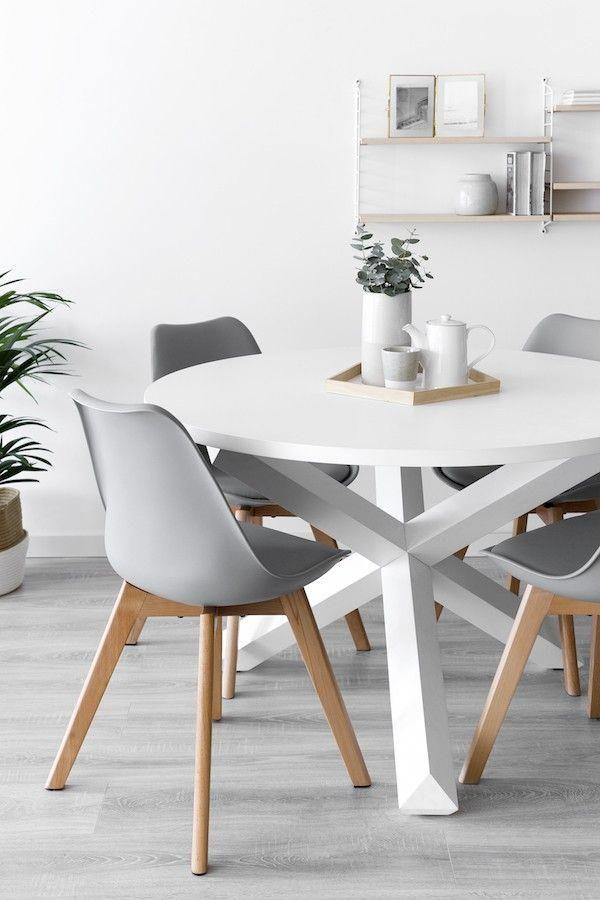 Cross mesa redonda blanca #mesacomedor   mesa comedor en 2019 ...
