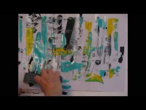 Abstract Painting Demo – warm up for beginners