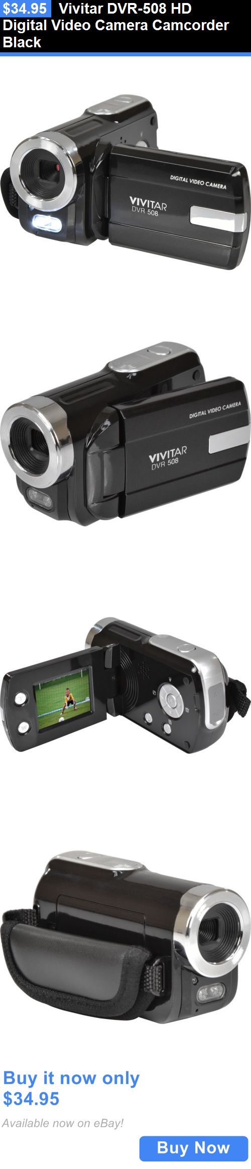 photo and video: Vivitar Dvr-508 Hd Digital Video Camera Camcorder Black BUY IT NOW ONLY: $34.95