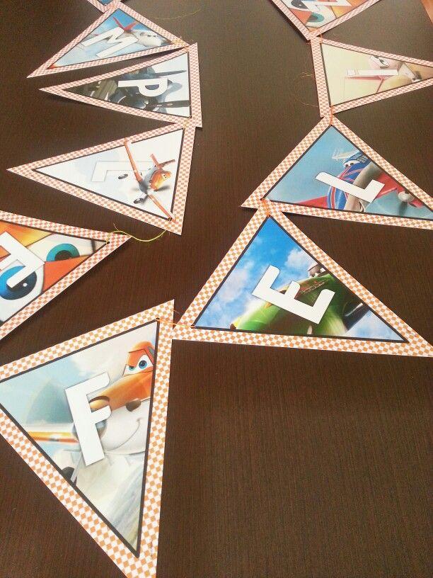 Banderín para fiesta de aviones Http://www.coconino.com.co