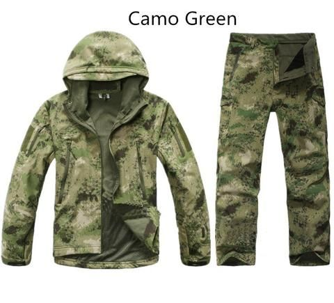 Men Tactical Jacket Army Camo Military Waterproof Hunting Clothes – 520outdoor