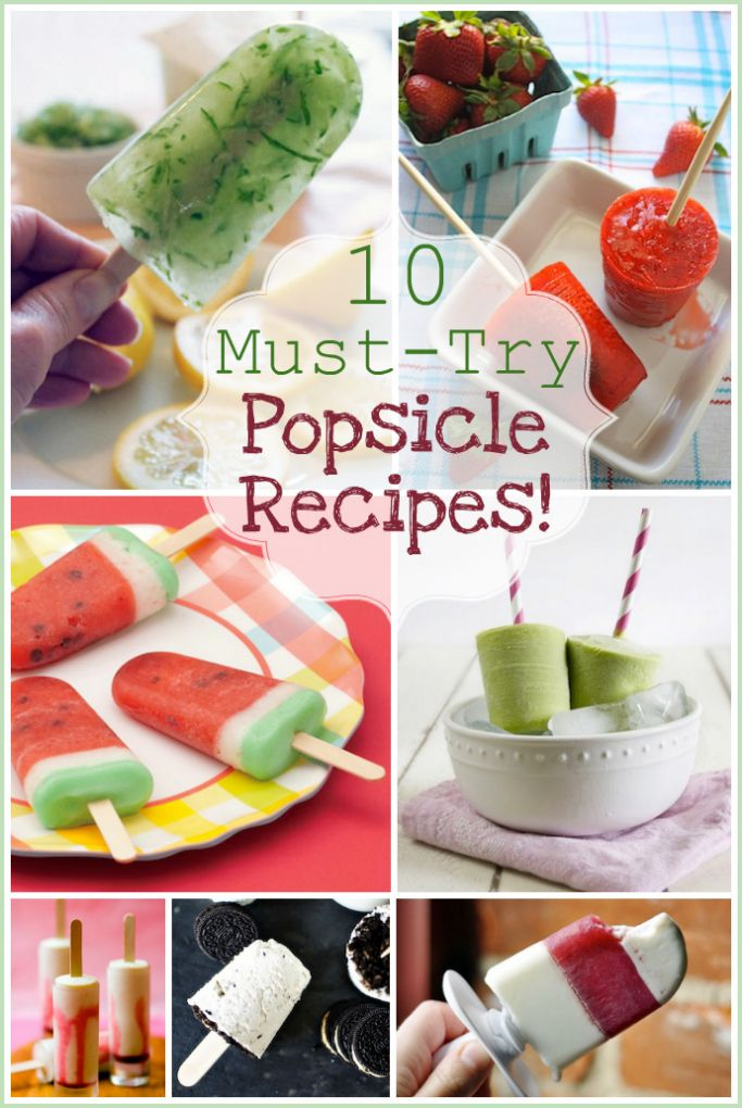 10 Must-Try unique popsicle recipes. I'm definitely making a few of these!