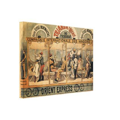 1896 Orient Express musical revue Paris Canvas Print - personalize gift idea special custom diy or cyo