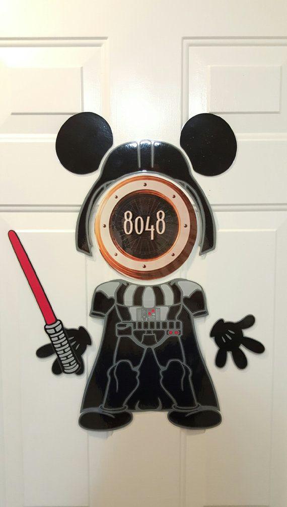 Darth Vader Jedi Empire Star Wars Mickey Disney cruise Body Part Stateroom Door Magnets for Disney Cruise