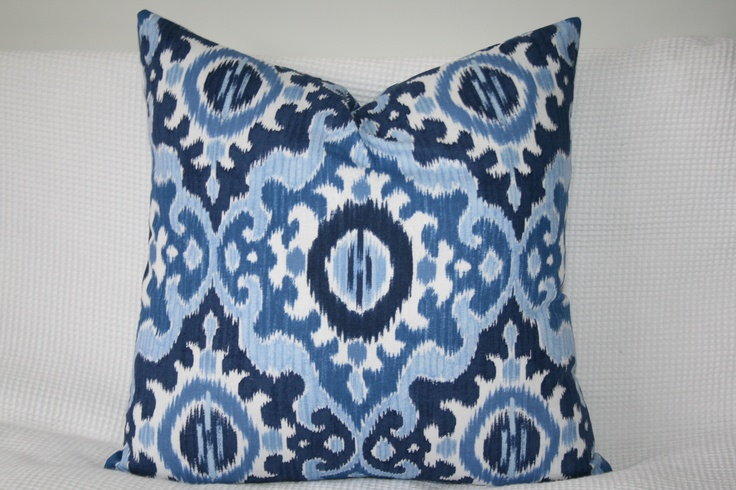 Navy, Blues and White Ikat