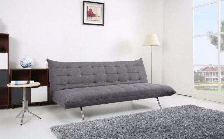 Schlafsofa Stoff Grau Sofa Couch Couchgarnitur Schlaffunktion Pedro dunkelgrau
