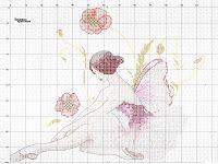 Вышивка крестом / Cross stitch : 2 цветочные феи - цветные схемы вышивки крестом