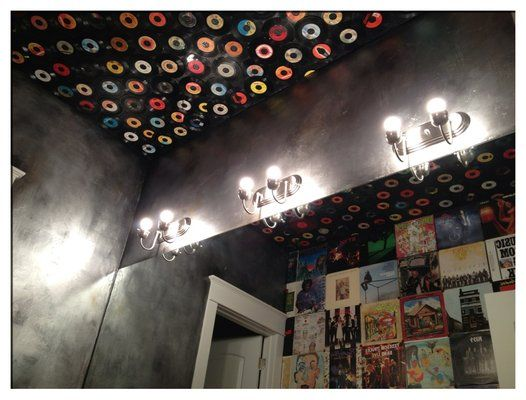 diy ceiling with vinyl records - Google Search   Places to ...