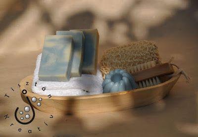 Kék agyagos szappan