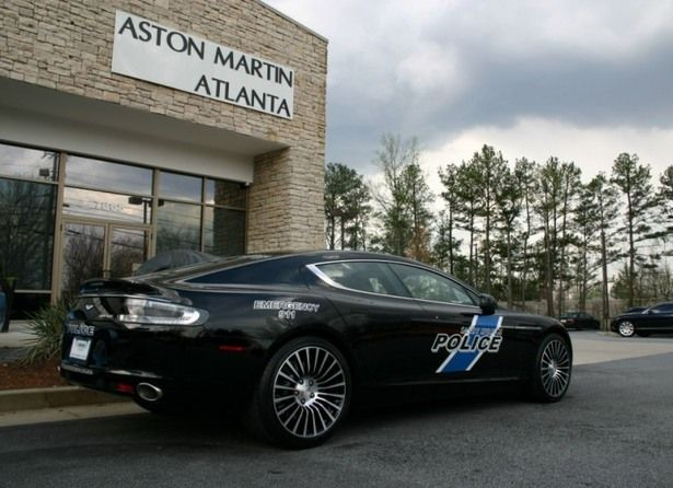 Atlanta apparently got themselves a nice Aston Martin Rapide as a member of their fleet. Aston Martin is a classic car brand, making James Bond's cars, and now that the Atlanta police have one they'll be sure to catch the bad guys too.