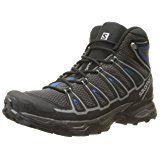 Salomon Men's X Ultra Mid Aero Hiking Boot, Autobahn/Black/Deep Water, 10.5 D US
