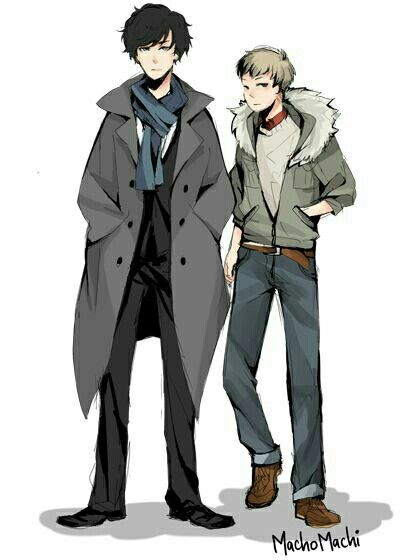 94 best tv show anime images on pinterest fan art fanart and anime johnlock by machomachi i tend to avoid pinning anime doodles partly voltagebd Gallery