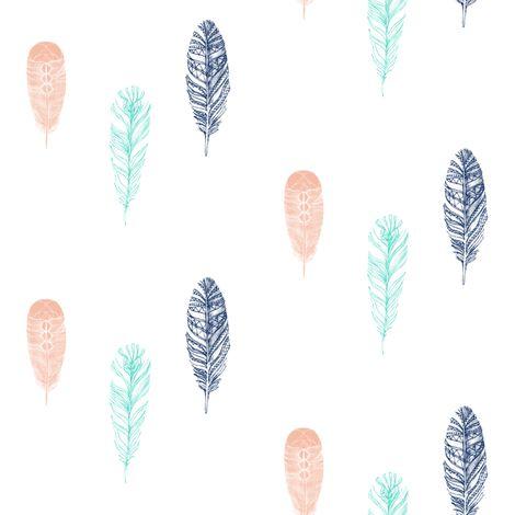 Falling Feathers fabric by a_joyful_riot on Spoonflower - custom fabric