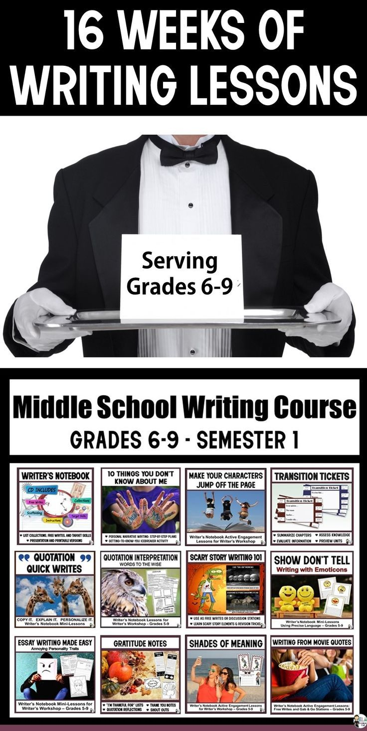 Middle/Secondary Writing Teachers, Are you short on time, but looking to excite middle school writers?  The Middle School Writing Course includes 16 weeks of  low-prep, high-interest lessons designed to raise writing proficiencies.