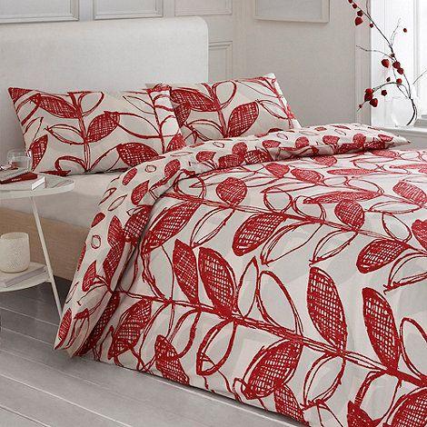 Debenhams Red 'Delamere' bed linen- at Debenhams.com