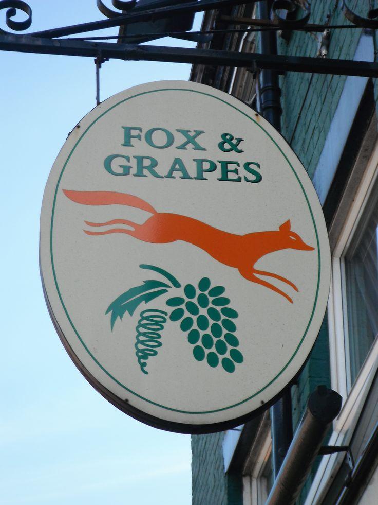 Aesop themed pub sign in Preston