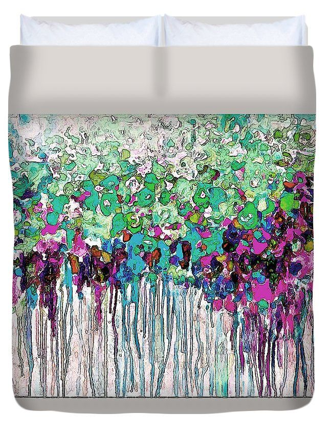 Abstract Duvet Cover featuring the painting Abstract by Riccardo Zullian