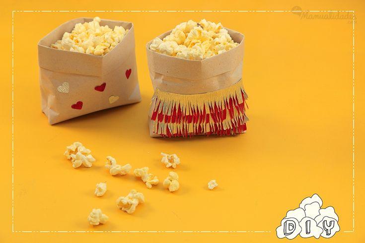 Cajitas de palomitas de maíz: como en el cine