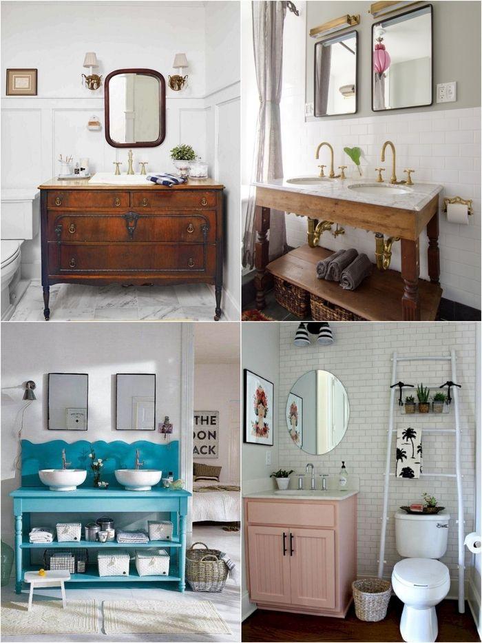 1001 Idees Originales Pour Un Meuble Salle De Bain Recup Meuble Salle De Bain Relooking Salle De Bain Salle De Bains Recup