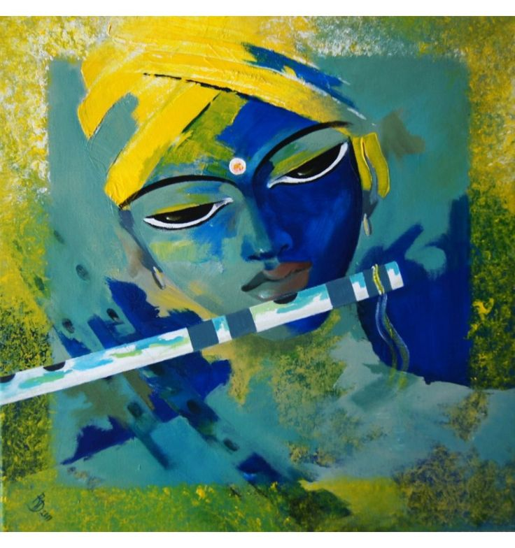 Krishna Paintings Canvas Krishna painting acrylic on
