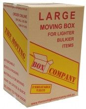 15 TMBC Large Tea Chest Moving Boxes, 43.5cm x 38cm x 65cm High (108 L).
