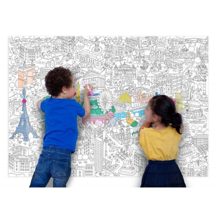 Poster géant à colorier - PARIS