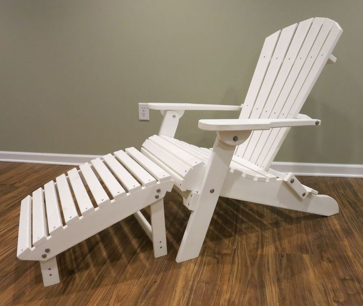Polywood Adirondack Chair - Fully Assembled and Easily Folded and Stored - Free Shipping available at www.midwestlogfurniture.com