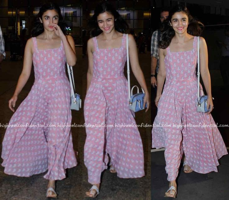 Alia Bhatt (In Anita Dongre Grassroot) Photographed At The Airport-1