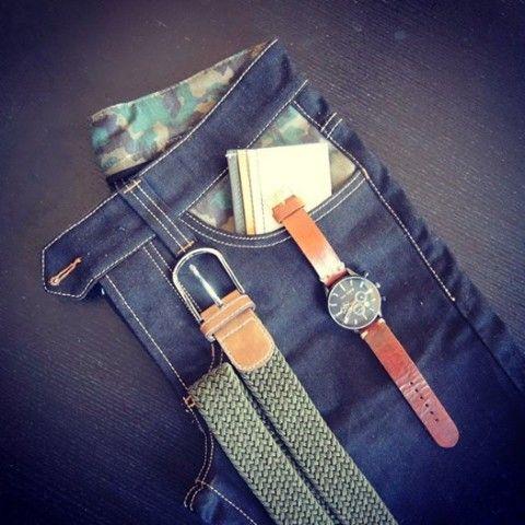 Outfit - Jeans, Watch, Belt, Wallet