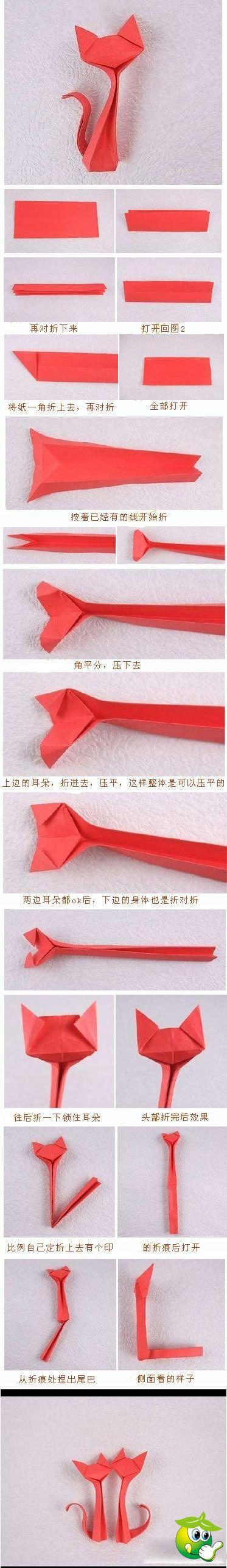 gatinhos de origami