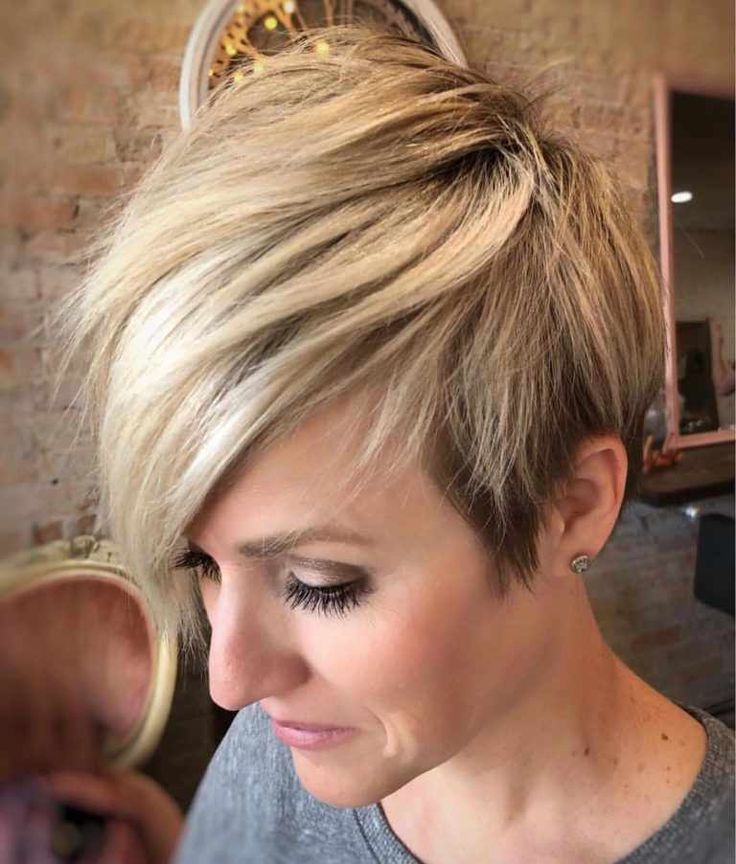 60 Short Hairstyles For Round Faces 2018-2019