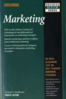 Professor Richard Sandhusen's brand-new and important fourth edition of Marketing explains how four digital-age systems have merged into one to change marketing and management practice as much in the past five years as in the previous half century. These systems--decision support, relationship marketing, integrated marketing communication, and balanced scorecard--receive detailed analysis ...